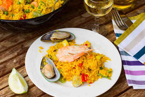 Locanta Restaurant - Paella for Two with Three Sharing Tapas Plates - Save 70%