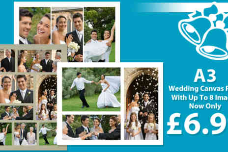 Memories Canvas Print - Personalised A3 Wedding Collage Canvas Print - Save 87%