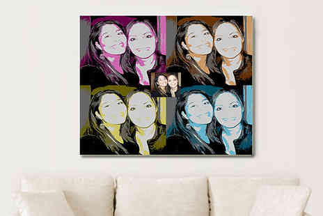 Breathtaking Canvas - Bring the famous pop art trend back into the walls of your home with this custom pop art canvas  - Save 81%