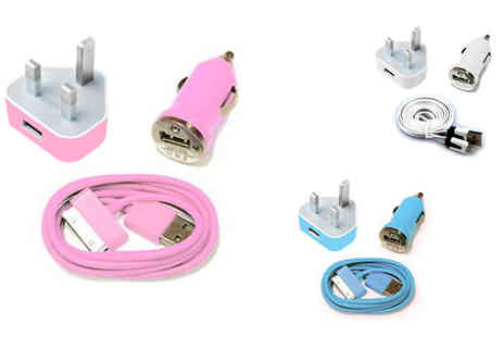 Outstanding Products - 3 in 1 Colour charger compatible with iPhone - Save 73%