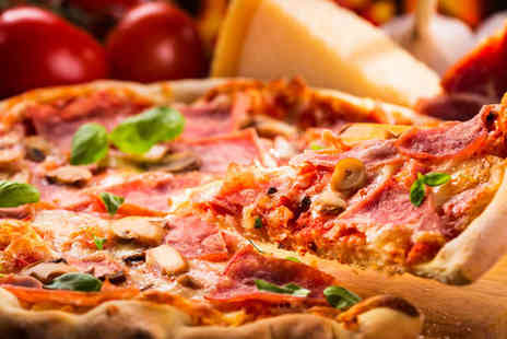 Due Fratelli - Garlic Bread Starter and Main of Pizza Pasta or Risotto Dish Each for Two - Save 51%