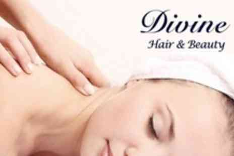 Divine Nails and Beauty - Massage Prescription Facial and Manicure or Pedicure - Save 70%