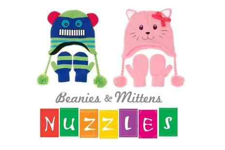 Sterling Distribution - Kids Nuzzles Hat & Mittens - Save 50%