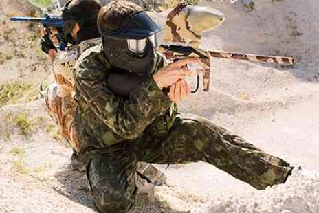 Hot Shots - Full Day of Paintballing Including Equipment and 100 Balls - Save 60%