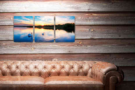 Print Bloock - A3 triptych framed canvas enliven those blank walls - Save 50%