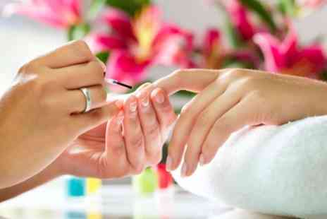 Evies Salon - Manicure or Pedicure or Both With Polish - Save 59%