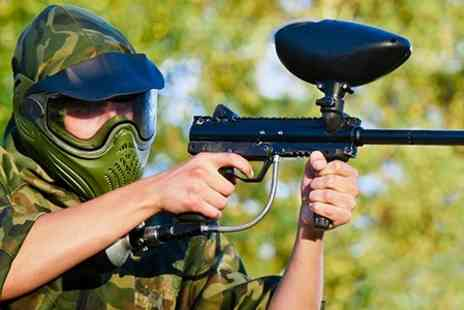 Combat Paintball - Paintballing With 100 Paintballs and Lunch For Four - Save 75%