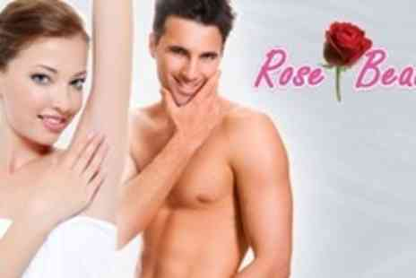 Rose Beauty - Six Sessions of IPL Hair Removal on One Medium or One Large Area - Save 86%