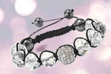 Guccinara - Crystal Shamballa style bracelet made with Swarovski Elements - Save 98%