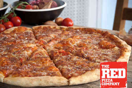 The Red Pizza Company - Two Extra Large Margherita Pizzas - Save 58%