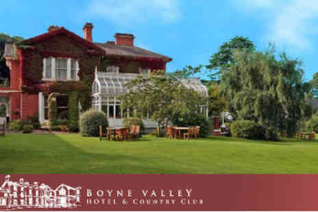 Boyne Valley Hotel & Country Club - One Night B&B with Dinner & Wine and 2 Leisure Passes - Save 53%