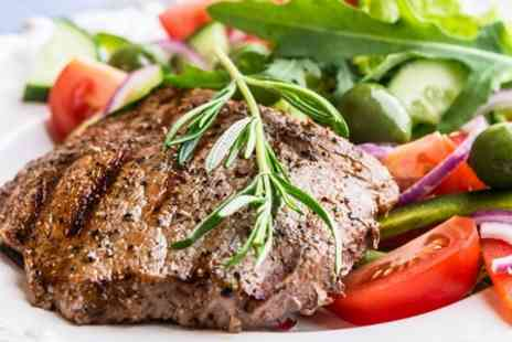 Rubino - Steak Meal For Two With Wine - Save 51%