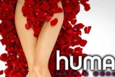 Human Hair & Beauty - Brazilian or Hollywood Wax Plus Glass of Bubbly - Save 60%