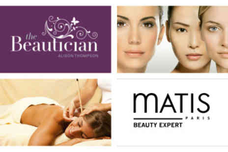 The Beautician - Matis Mini Facial Hopi Ear Candling Treatment plus a Swedish Back Massage - Save 55%