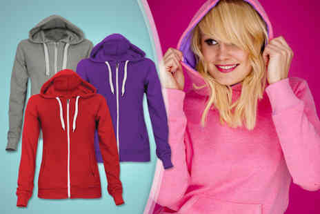 Karma Clothing - Zip up hoodie in a choice of colours for two - Save 73%