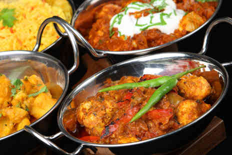 Curry Karaoke Club - Four course Indian banquet for 2 including glass of bubbly each & karaoke - Save 70%