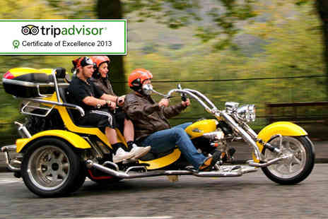 Trike Tours Scotland - One hour trike tour for 2 including equipment photos and tea or coffee - Save 61%