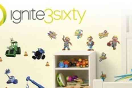 ignite3sixty - One (£8.50), Two (£15), or Four (£27) Packs of Children's Wall Stickers from ignite3sixty (Up to 60% Off) - Save 60%