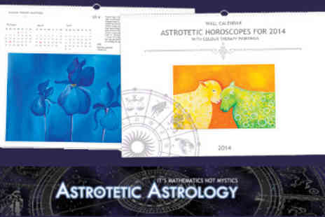 Astrotetic Astrology - Wall Calendar with Astrological Forecast and Colour Therapy Paintings - Save 50%