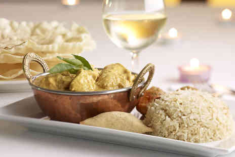 Ashoka - Three course Indian meal for 2 including a glass of wine - Save 63%