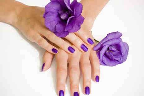 Cyan BeautyStudios - Shellac or Gellux Manicure with a Glass of Bubbly - Save 53%