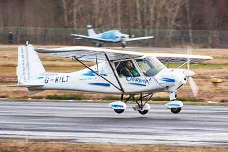 Clearprop Microlight School - 30 Minute Microlight Flight With Certificate - Save 24%