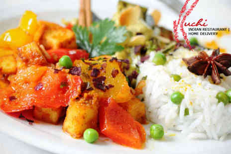Ruchi Indian Restaurant - Starter Main Course and Rice or Naan Dish Each for Two People with a Lassi Each - Save 56%