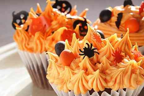 New York Cakes - 12 Halloween Themed Cupcakes - Save 63%