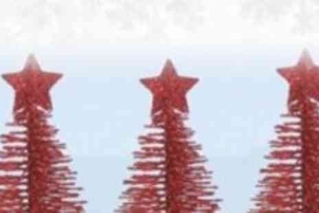 Xmas Decorations Car Boot - Pack 3 Small Decorative Red Trees - Save 60%