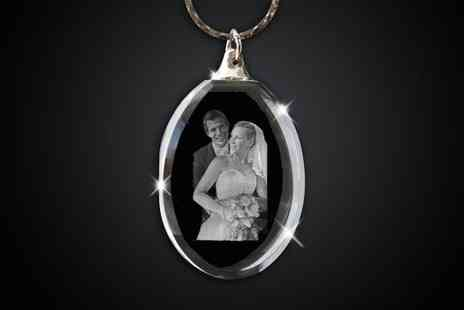 Laserpics - Personalised crystal pendant - Save 58%