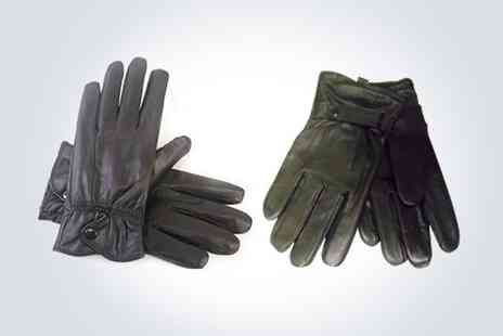 Star Home Buys - Black leather driving gloves ladies or mens   - Save 50%