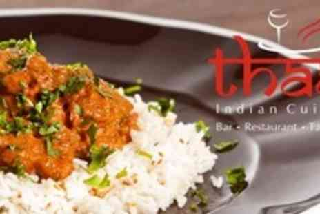 Thaal Barnsley - Two Courses of Indian Cuisine For Four - Save 63%
