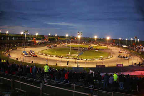 Skegness Stadium - Two tickets to watch stock cars caravans plus fireworks - Save 36%