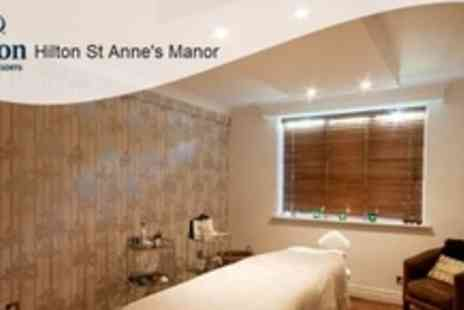 Hilton St Annes Manor - Spa Day For Two With a Back Massage Facial - Save 51%