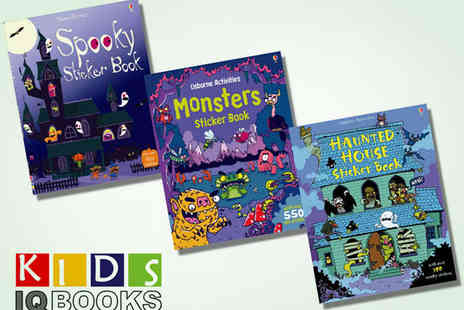 IQBooks - Three Usborne Halloween Sticker Books - Save 50%
