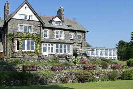 Sawrey House Hotel - One night Champagne and chocolate dipped strawberries on arrival and cream tea  - Save 46%