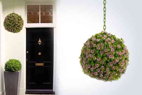 Salco - Two 20cm hanging rose topiary balls - Save 50%