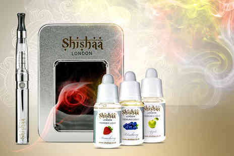 Shishaa - Electronic rechargeable Luxor kit and 3 liquid refills - Save 56%
