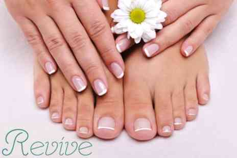 Revive - Manicure and Pedicure With OPI Axxium Two Week Polish for £24 - Save 74%