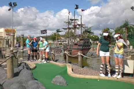 Adventure Golf Island - Mini Golf and Bowling With Drinks For Two - Save 62%