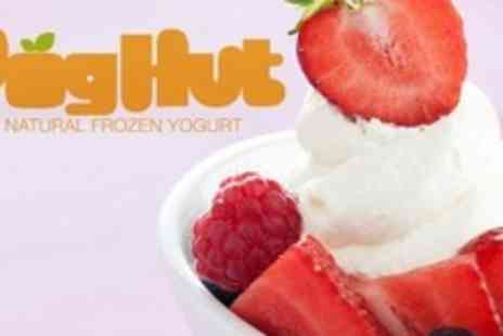 Yog Hut - Four Large Frozen Yoghurts With Topping - Save 60%