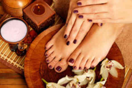 N SPA - Express Shellac Manicure and Pedicure - Save 73%