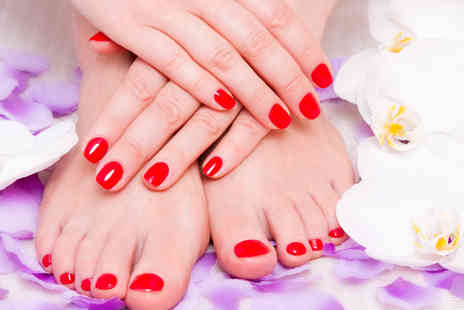 Passion Hair and Beauty - Deluxe Manicure and Pedicure with a Hand Massage - Save 77%