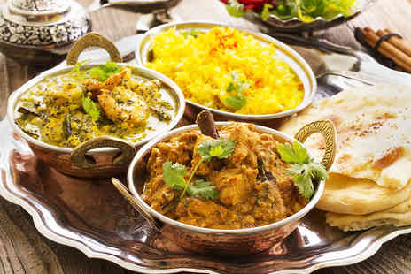 Taste of India - Two Course Indian Meal for Two with Sides Coffee and Baileys - Save 52%