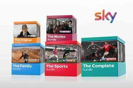 BSkyB - Sky TV 50 percent Off Voucher Towards Twelve Month Packages - Save 50%