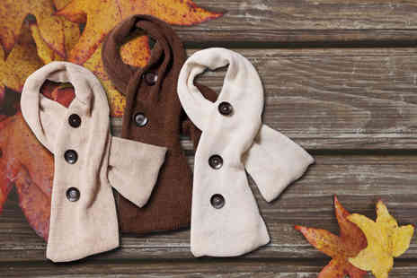Pure Alpaca - Alpaca wool button scarf - Save 60%