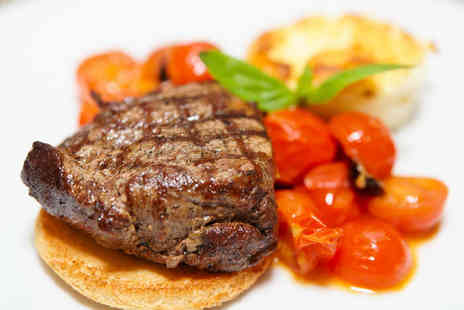 Shack Bar and Grill - Steak Meal Including Side Dish Tomatoes Portabello Mushrooms and Choice of Sauce for Two - Save 52%
