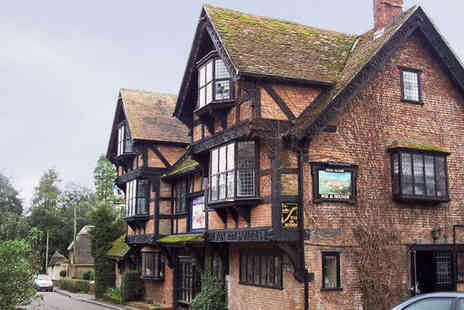 The Fox and Hounds - Starter Main Course Side Dish and Glass of Bubbly Each for Two - Save 51%