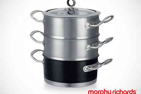 Buy Moby - Morphy Richards Three Tiered Steamer in Choice of Colours - Save 29%