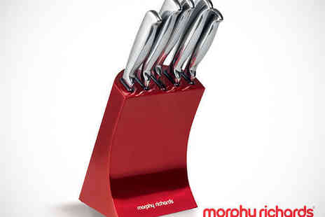 Buy Moby - Five Piece Knife Block Set in Choice of Colour - Save 52%